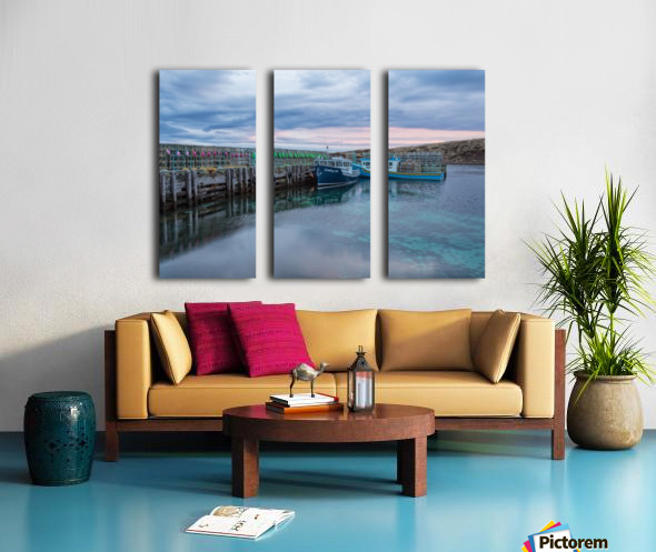 The night before Split Canvas print