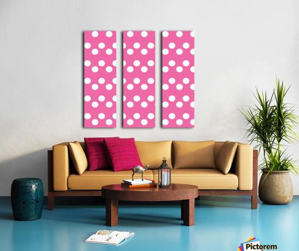 HOT PINK Polka Dots Split Canvas print
