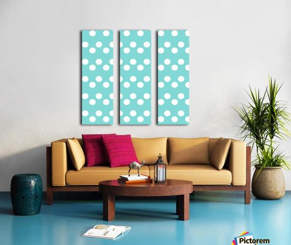 MINT Polka Dots Split Canvas print
