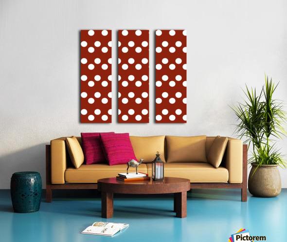 Crimson Polka Dots Split Canvas print