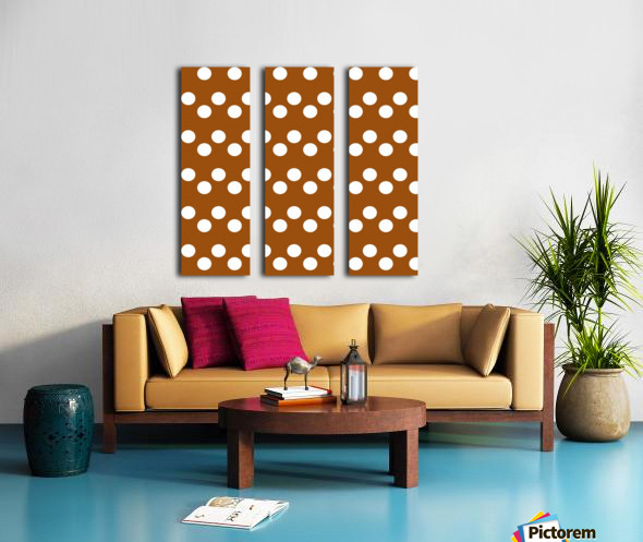 RUST Polka Dots Split Canvas print