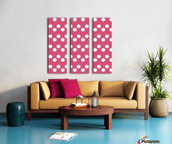 Sweet Pink Polka Dots Split Canvas print