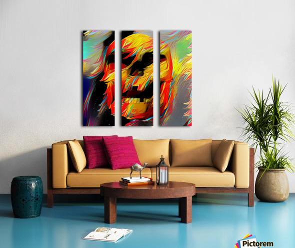 Colorful Skull Split Canvas print