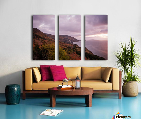 Cabot Trail in the fall Split Canvas print