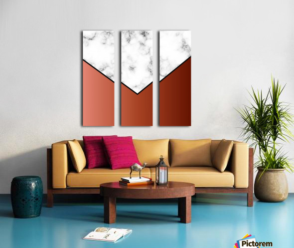 ABSTRACT BRICK MODERN MARBLE Split Canvas print