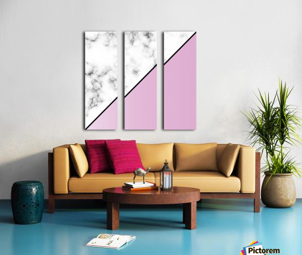 ABSTRACT MODERN PINKY MARBLE Split Canvas print