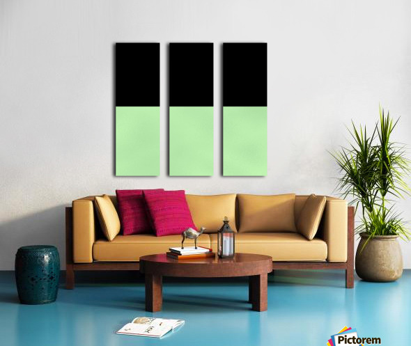 ABSTRACT GREEN GLITTER Split Canvas print