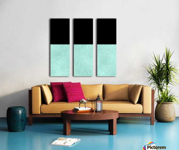 ABSTRACT TURQUOISE GLITTER Split Canvas print