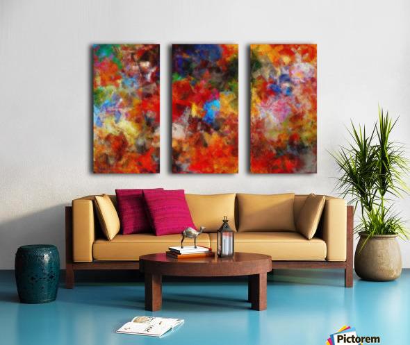 Vivid Life Split Canvas print