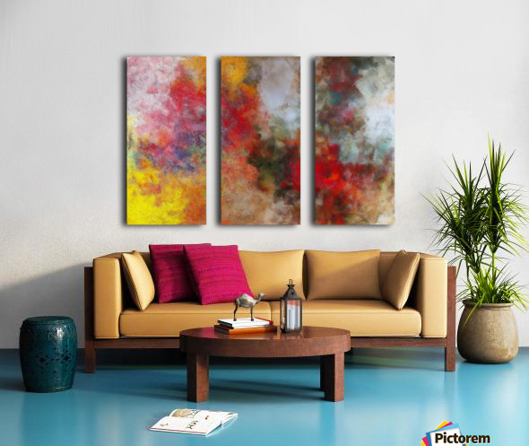 Winter Roses Split Canvas print
