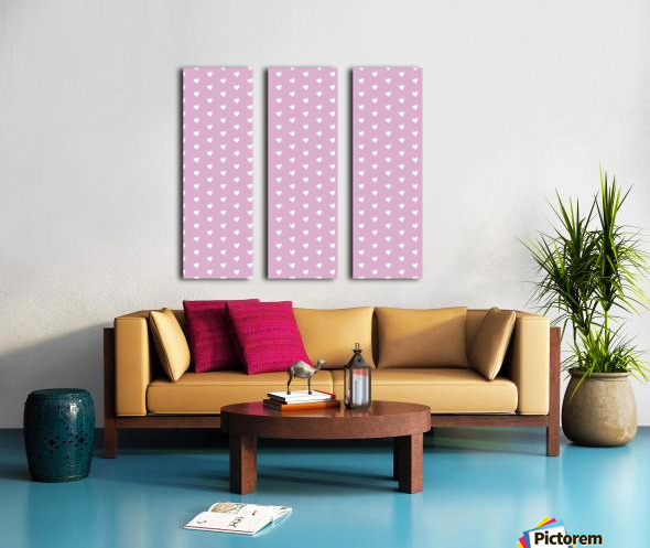 Lavender Heart Shape Pattern Split Canvas print