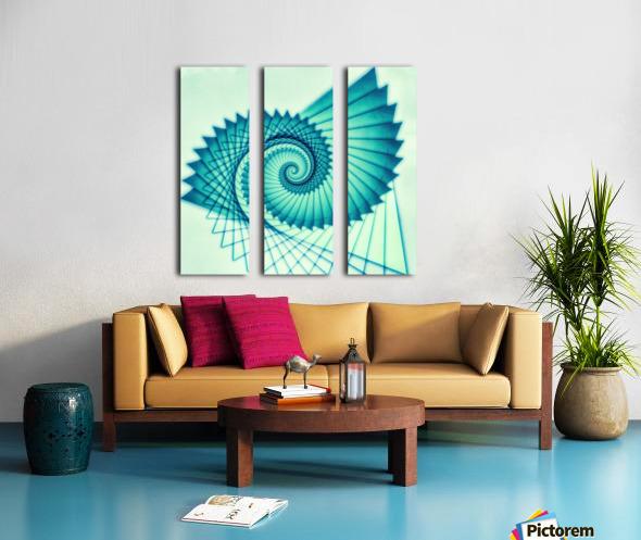 Composition de Nautile Split Canvas print