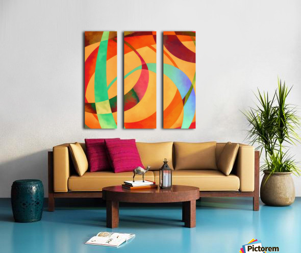 Swoop Split Canvas print