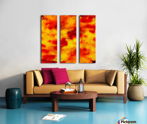 Inferno Split Canvas print