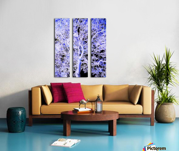 Art of a Violet Blue Tree Split Canvas print