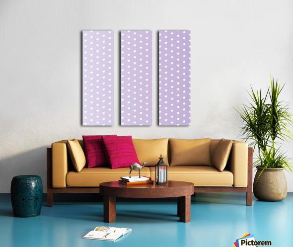 Spring Purple Heart Shape Pattern Split Canvas print