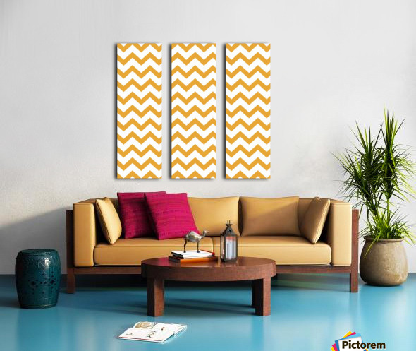 MARIGOLD CHEVRON Split Canvas print