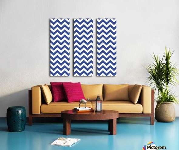 ROYAL BLUE CHEVRON Split Canvas print