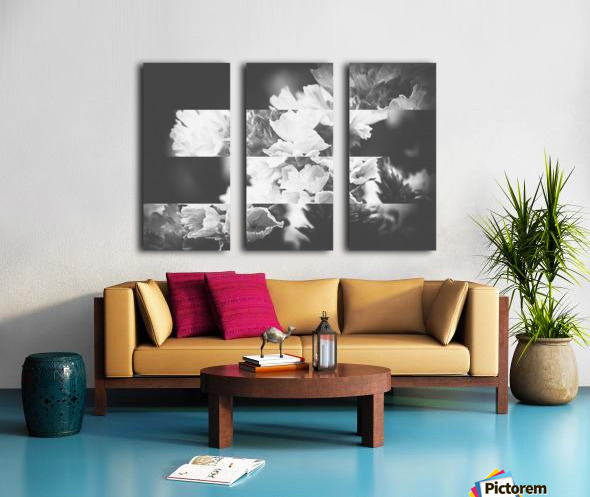 Flower Bells Collage BnW Split Canvas print