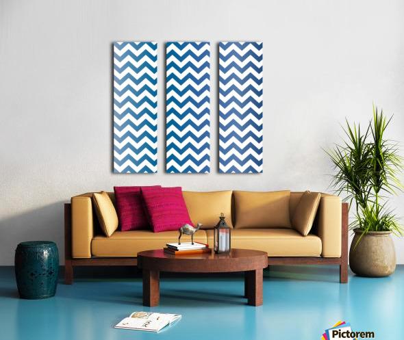 BLUEBERRY CHEVRON Split Canvas print