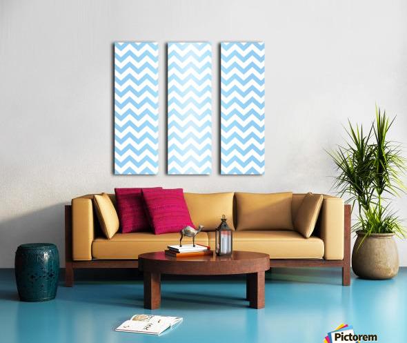 BLUE  PASTEL CHEVRON Split Canvas print