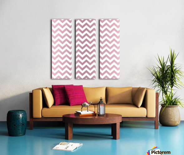 PINKY SHADE CHEVRON Split Canvas print