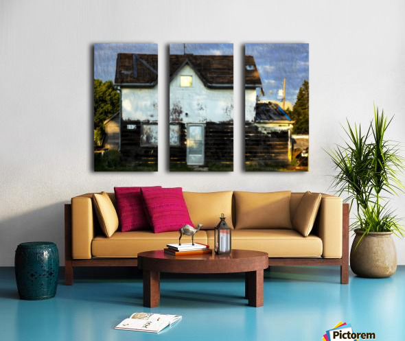 Austin house Split Canvas print