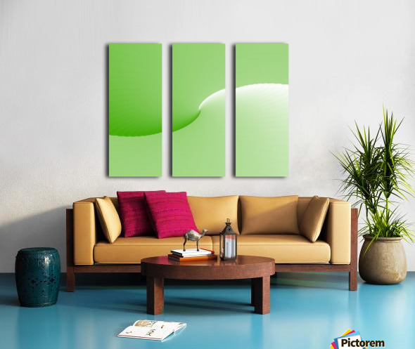 GREEN ABSTRACT  ORIGINAL Split Canvas print