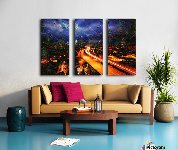 Midnight at the Ol Races Split Canvas print