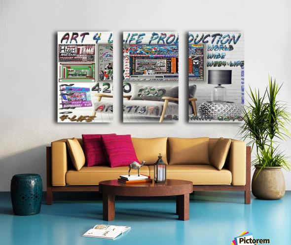 ECO ARTIST TOMMY BOYD NON PROFIT 2 Split Canvas print