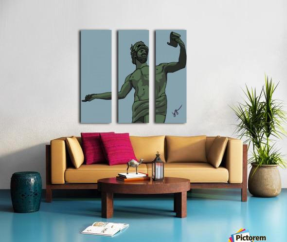 Greek Orator Split Canvas print