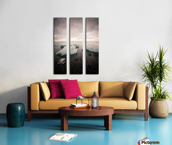 Drift ice Split Canvas print