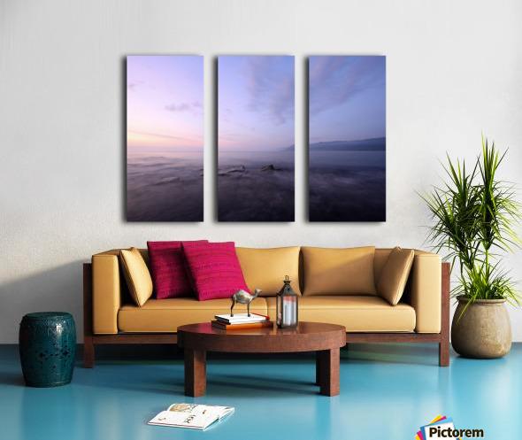 Soft lights Split Canvas print