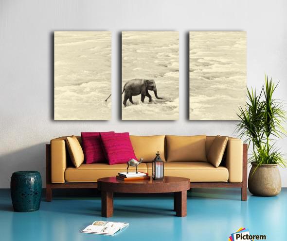 RIVER ELEPHANTS 5. Split Canvas print