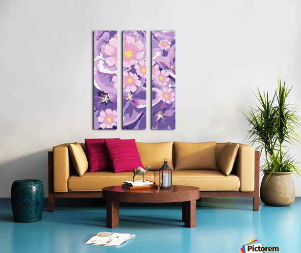 Abstract Flowers  Split Canvas print