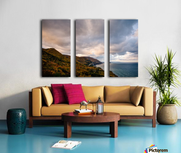 Autumn skies Split Canvas print
