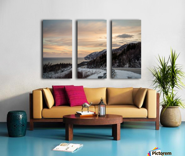 Winter Sunrise Split Canvas print