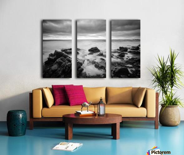 Rocky shore Split Canvas print