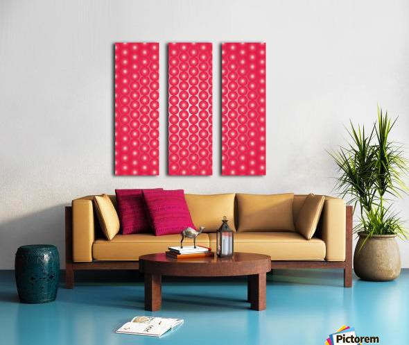 Red Pearl Pattern Split Canvas print
