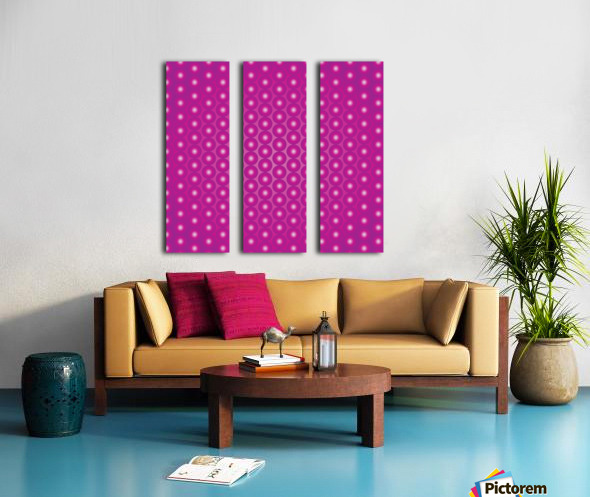 Magenta Pearl Pattern Split Canvas print