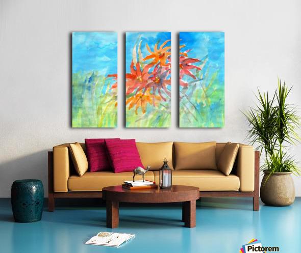wildflower Split Canvas print