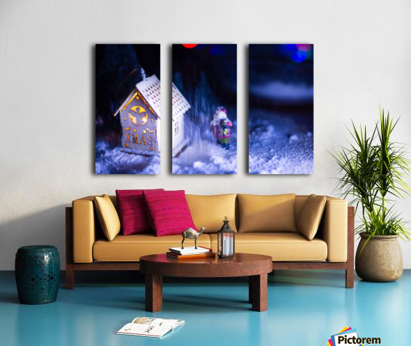 Christmas is coming Split Canvas print