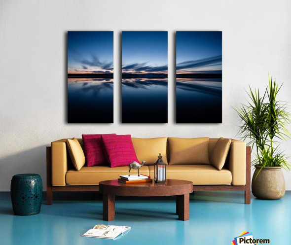 Feather skies Split Canvas print