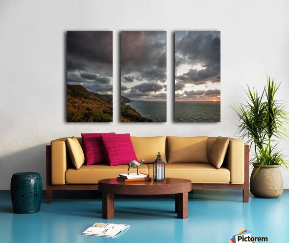 Kiss of light Split Canvas print