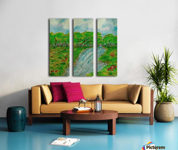 Relax Split Canvas print