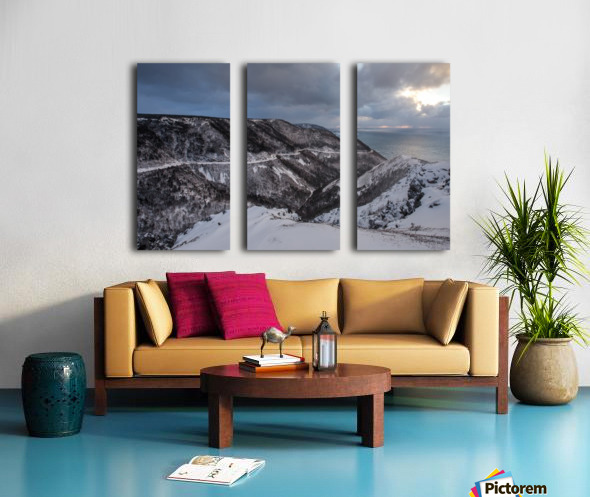 Snowy Skyline Split Canvas print