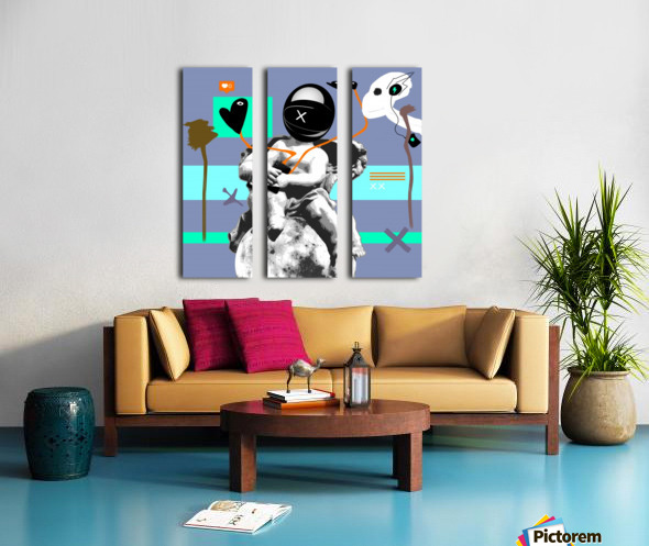 Waiting for Likes Split Canvas print