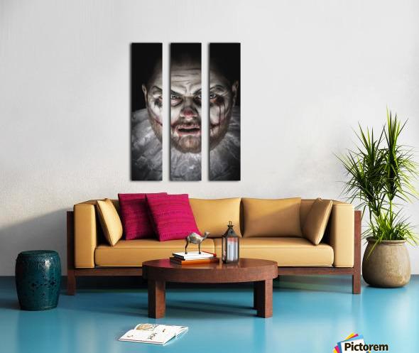 Scary Evil Clown Split Canvas print