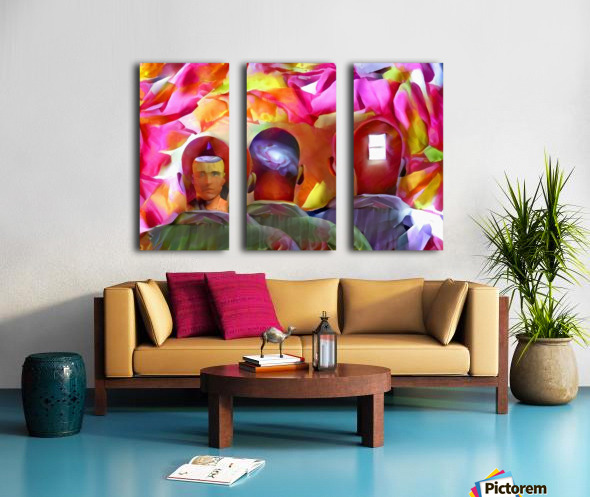 Men Thoughts Split Canvas print