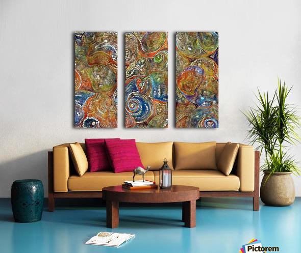 Mosaic Seashells Split Canvas print